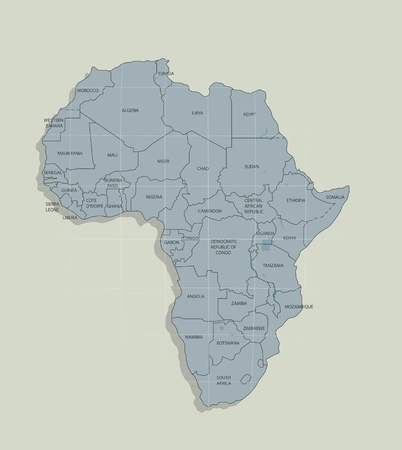 Illustration pour The original map of the African continent - image libre de droit