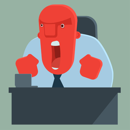 Illustrazione per Angry boss shouting - Immagini Royalty Free