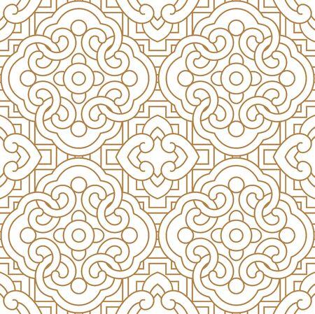 Ilustración de Seamless  Chinese traditional  pattern - Imagen libre de derechos