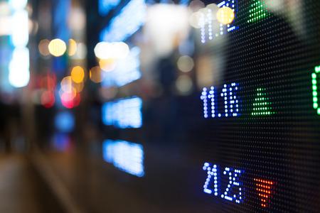 Photo pour Display of Stock market quotes  - image libre de droit
