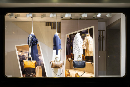 Photo for boutique fashion display window in shop - Royalty Free Image