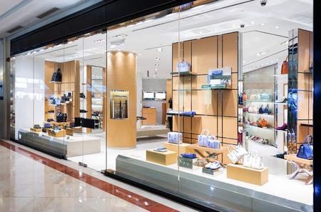 Photo for handbag retail fasion store and showcase. - Royalty Free Image