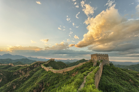 Photo for skyline and great wall - Royalty Free Image