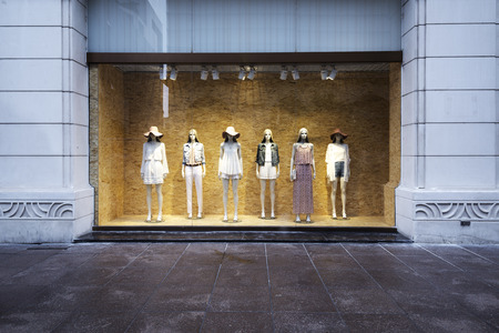 Photo for mannequins at shopfront - Royalty Free Image