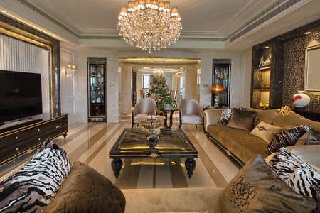 Photo for luxury living room interior - Royalty Free Image