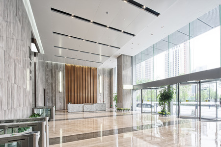 Photo for interior of modern entrance hall in modern office building - Royalty Free Image