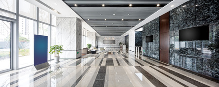 Photo pour interior of modern entrance hall in modern office building - image libre de droit