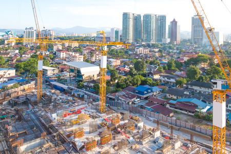 Photo for construction site in midtown of kuala lumpur - Royalty Free Image