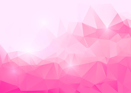 Ilustración de Pink abstract polygonal background - Imagen libre de derechos