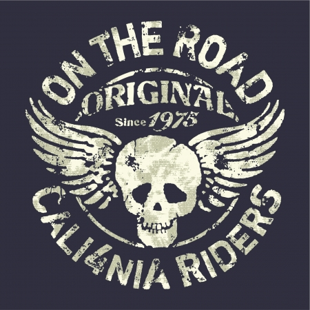 Illustration pour California motorcycle riders team - image libre de droit