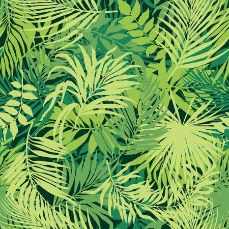 Illustration for Leaves wallpaper vector seamless pattern - Royalty Free Image