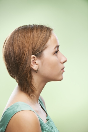 Photo for Profile of beautiful young woman - Royalty Free Image