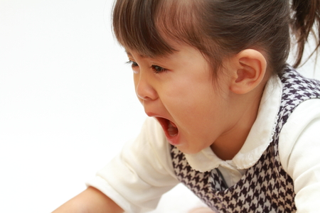 Photo for crying Japanese girl (3 years old) - Royalty Free Image