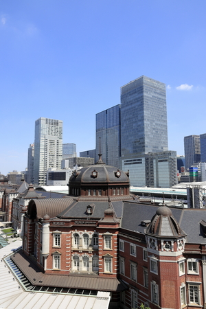 Foto de Marunouchi station building of Tokyo station in Japan - Imagen libre de derechos