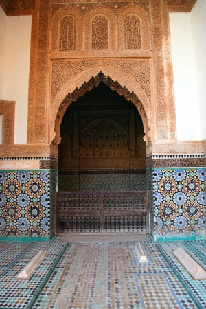 Famous Saadian Tombs in Marr mural