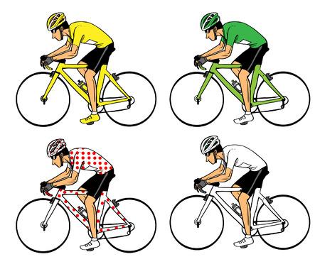 Illustrazione per Cycling - Immagini Royalty Free