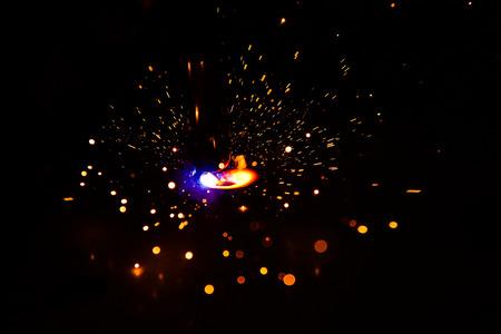 Photo for welder, craftsman, erecting technical steel Industrial steel welder in factory technical, - Royalty Free Image
