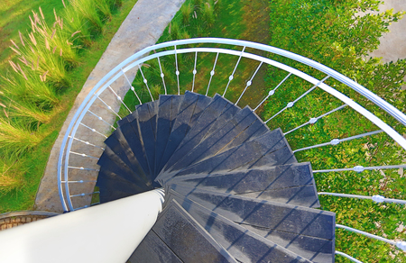 Photo for Spiral staircase outdoors - Royalty Free Image