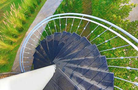Foto de Spiral staircase outdoors - Imagen libre de derechos