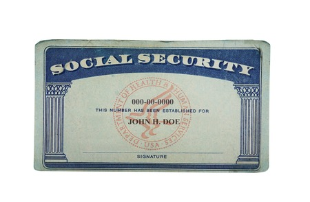 Photo for Blank US social security card isolated on white                                - Royalty Free Image