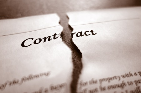 Photo for Closeup of torn legal contract - Royalty Free Image