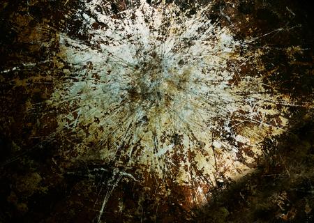 Foto de Old piece of grimy metal with scratches and grunge look - Imagen libre de derechos