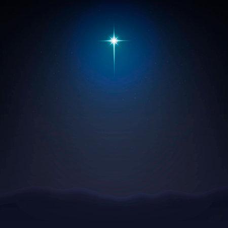 Ilustración de Stock vector illustration Bethlehem Star minimalistic background. The Birth of Jesus Christ. EPS 10 - Imagen libre de derechos