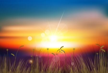 Illustration pour sunset - image libre de droit