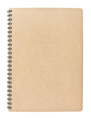 blank notebook isolated on white background, conservation concept
