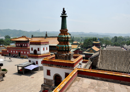 Photo pour Temple of the Qing Dynasty, Puning Temple - image libre de droit