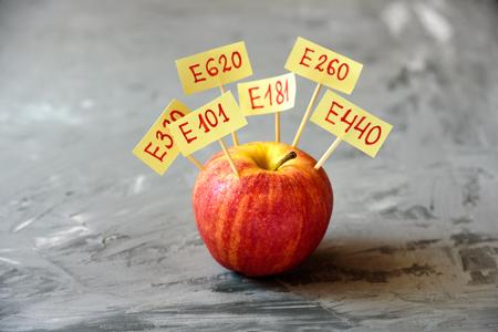 Foto de Apple Fruit with natural E additives. Healthy food concept - Imagen libre de derechos