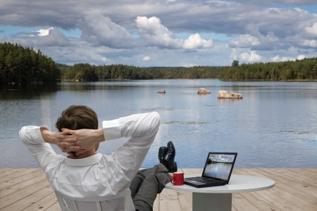 Foto de Businessman relaxes - Imagen libre de derechos