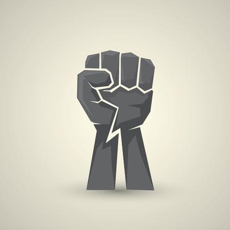 Illustration pour freedom concept. vector fist icon - image libre de droit