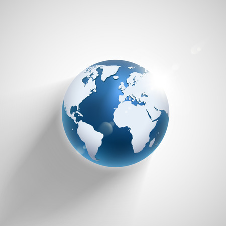 Illustration for Vector globe icon of the world  - Royalty Free Image