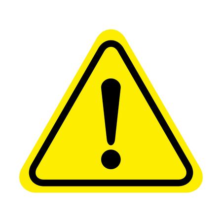 Ilustración de Exclamation danger sign. attention sign icon. Hazard warning attention sign - Imagen libre de derechos