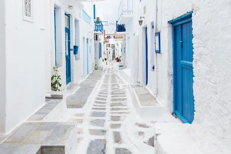 Photo for Mykonos streetview Greece - Royalty Free Image