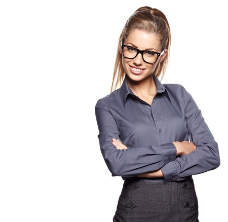 Foto de business woman in glasses  - Imagen libre de derechos