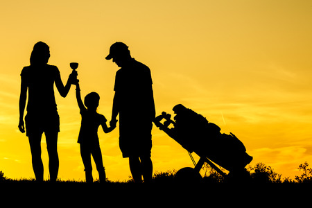 Photo for Golfer at sunset - Royalty Free Image