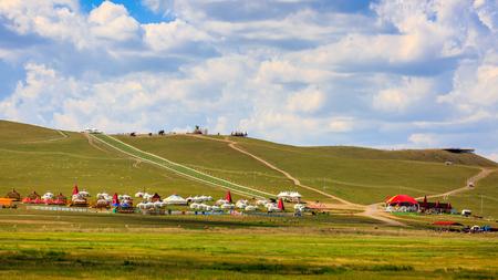 Photo pour Inner Mongolia Hulun Buir 186 Ribbon River Mongolia tribes - image libre de droit