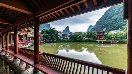 Photo pour Huangyao Ancient Town, Hezhou, Guangxi - image libre de droit