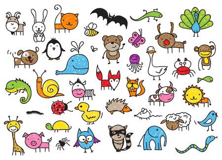Photo pour animals doodle - image libre de droit