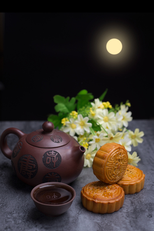 Photo for Chinese Mid Autumn Festival moon cake - Royalty Free Image