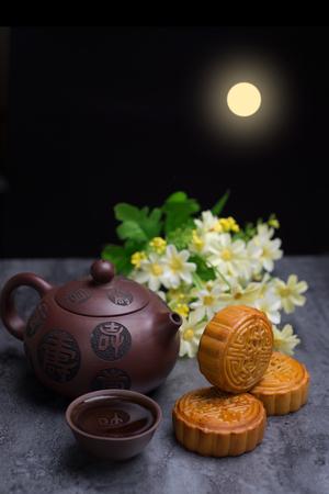 Photo pour Chinese Mid Autumn Festival moon cake - image libre de droit