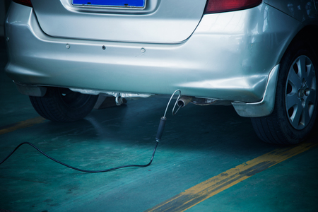 Photo for Automobile exhaust emission test - Royalty Free Image