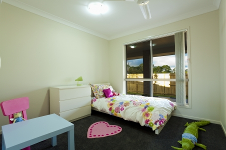Kids bedroom in new townhouse