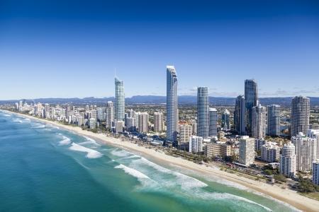 Foto de Aerial view of Gold Coast, Queensland, Australia - Imagen libre de derechos