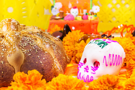 Photo for Dead bread and sugar skull - Royalty Free Image