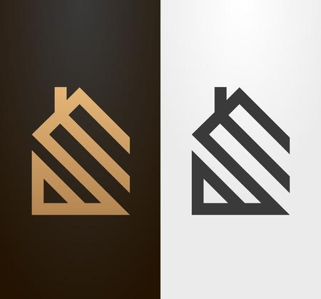 Ilustración de Simple line house , icon. - Imagen libre de derechos