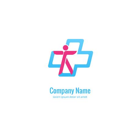 Illustration pour Logo design abstract medical vector template. Illustration design of logotype cross health symbol. - image libre de droit