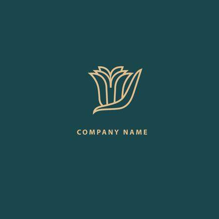 Illustration pour Abstract flower store logo icon vector design. Cosmetics, Spa, Beauty salon Decoration Boutique vector logo. Vector illustration, Graphic Design Editable Design. Floral logo. Flower wedding icon - image libre de droit